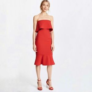 Likely Conrad Red Strapless Sheath Dress